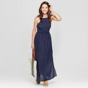 Universal Thread Blue Smocked Maxi Dress